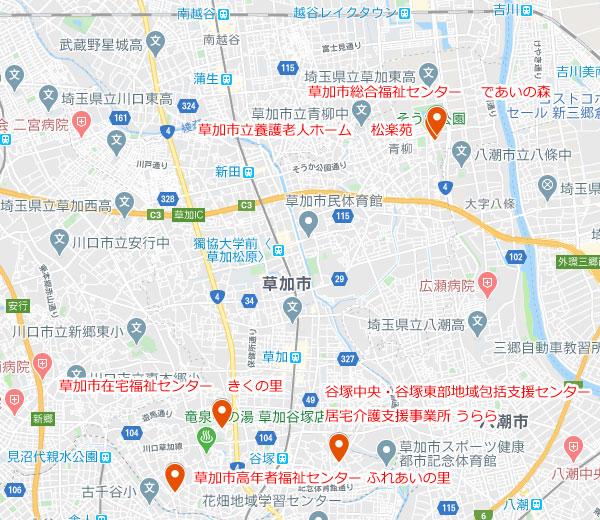 【高年者事業 地図】