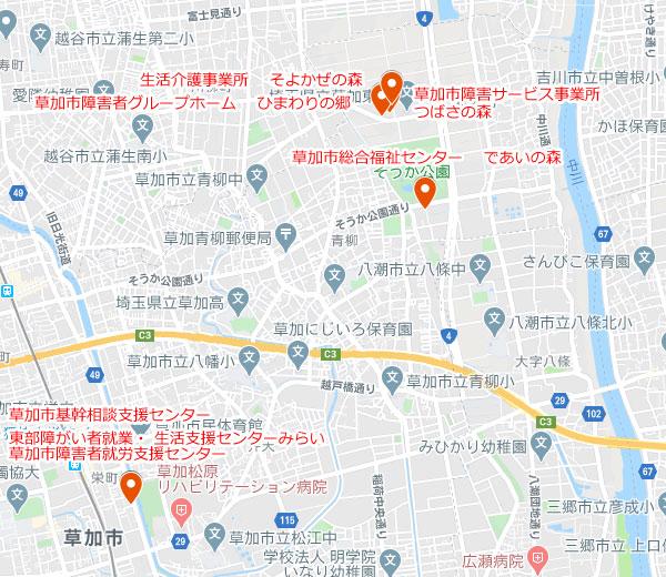 【障がい者事業 地図】